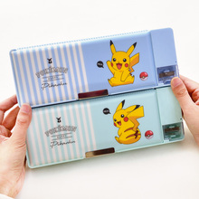Deli Plastic Pencil Cases Cute Cartoon Case Kawaii Pupil Bags Student Stationery Box with Bookshelve School Supply