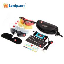 LumiParty 5Lens Cycling Glasses Bike Goggles Cycling Eyewear Outdoor Sport Bicycle Sunglasses UV 400 Men/Women occhiali ciclismo