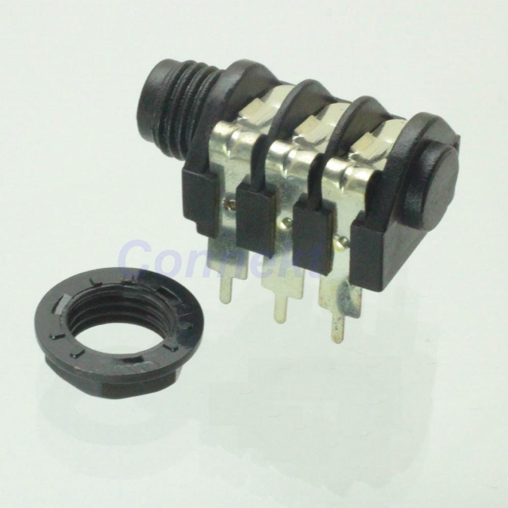 medium resolution of 2pcs 6 35mm 6 5mm mono stereo headphone jack microphone 1 4 panel wiring socket