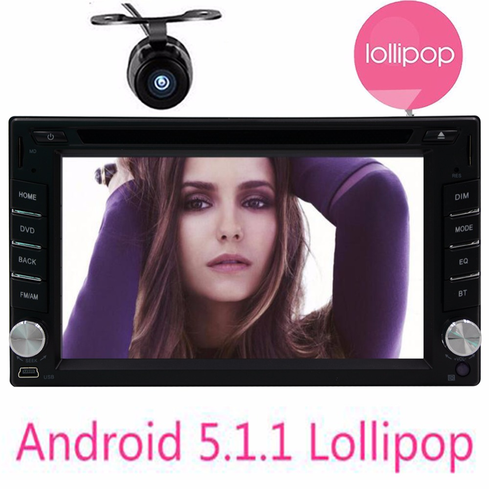 Double 2 din Android 5.1 Car DVD player GPS navigator+Wifi+Bluetooth+Radio+1GB CPU+DDR3+Capacitive Touch Screen+3G+car pc+aduio