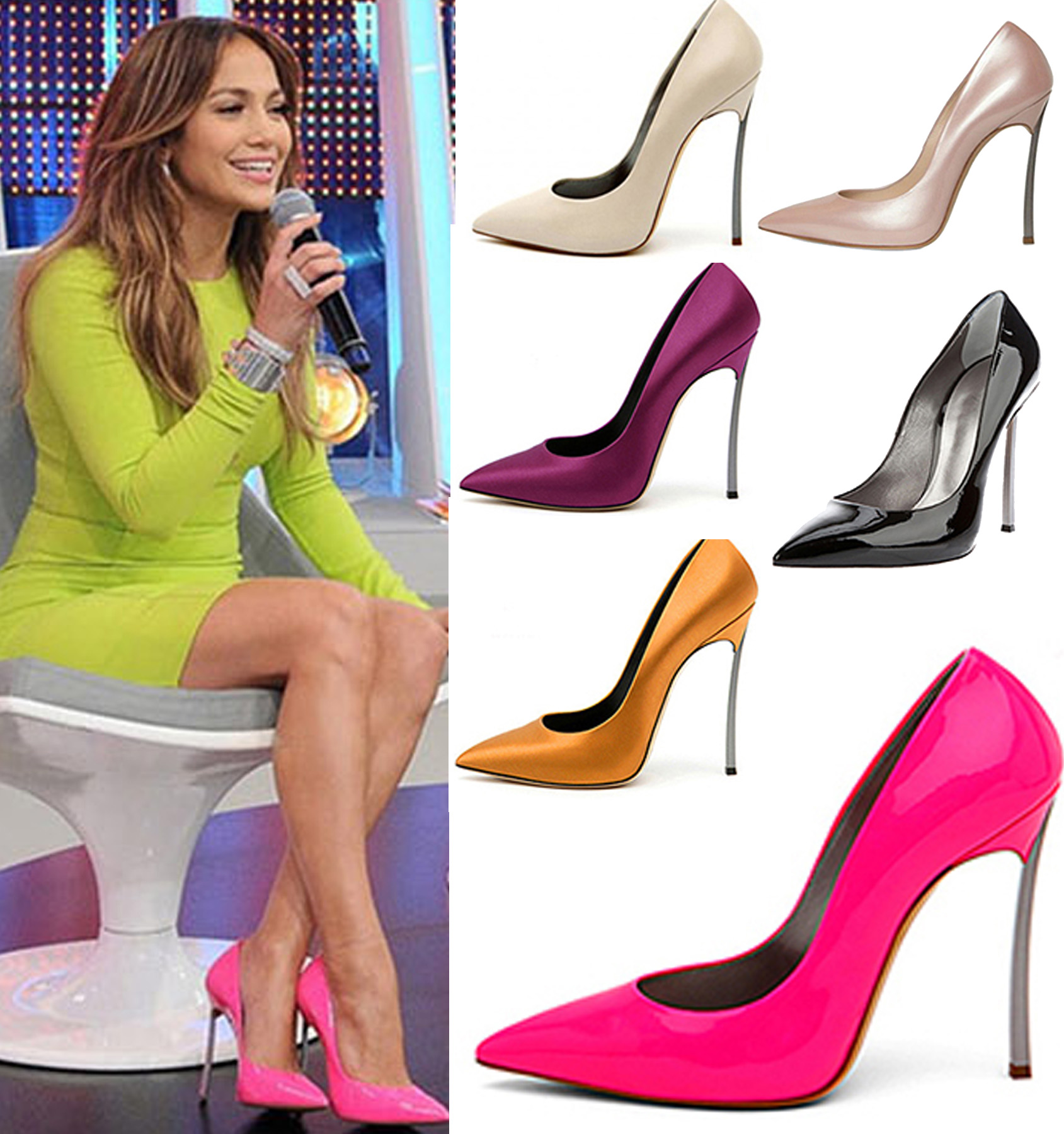 ФОТО Free shipping 2014 Hot Selling Sexy  genuine leather fashion Pointed toe  high heels/Neon 6 color New design heels 32-42