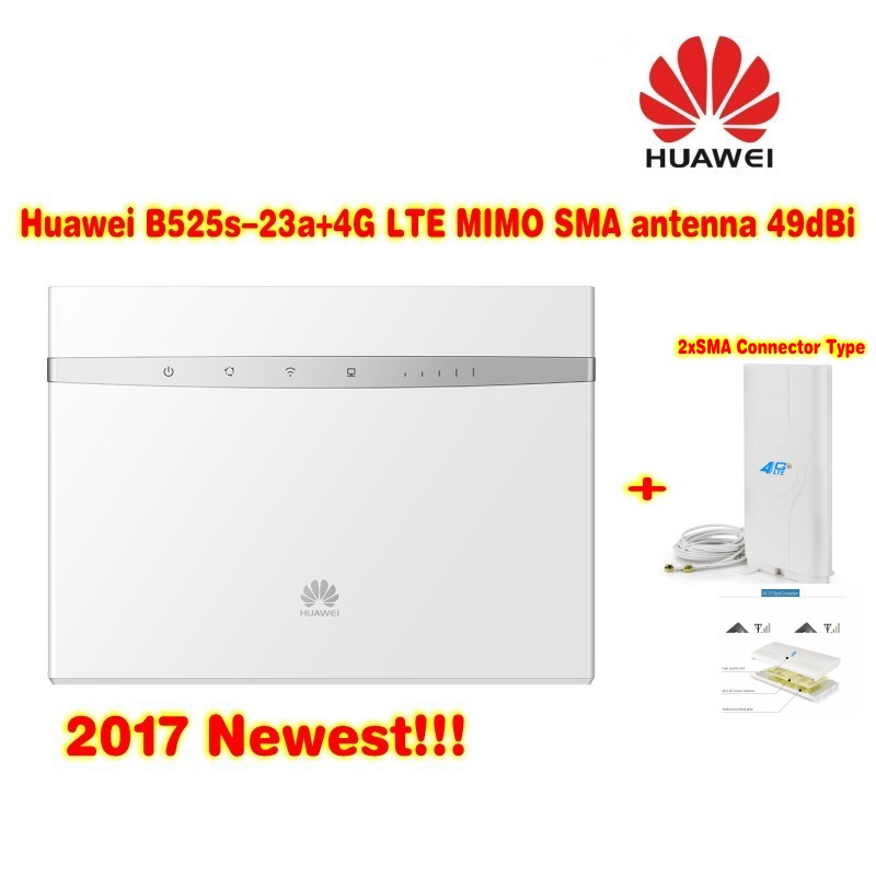 Huawei B525s-23a 4G LTE WLAN Router 300Mbit+4G LTE MIMO Antenna 49dBi SMA Connector