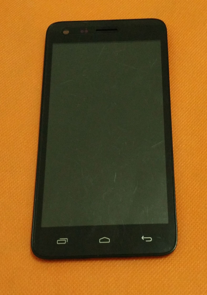 Used Original LCD Display Screen + Touch Screen + Frame for Elephone P7 mini 5.0 QHD 960x540 MTK6582 Quad Core Free shipping