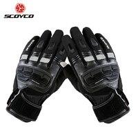 SCOYCO Motorcycle Touch Screen Gloves Men S Genuine Cow Leather Waterproof Windproof Warm Winter Motorbike Racing