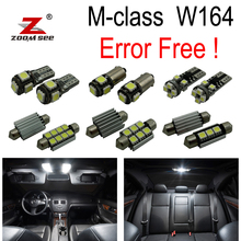 21pc X LED bulb font b interior b font Reading light Kit For Mercedes Benz M