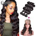 Indian Virgin Hair 360 Lace Frontal With Bundle 360 Frontal With Bundles Body Wave With Closure Lace Frontal Closure With Bundle