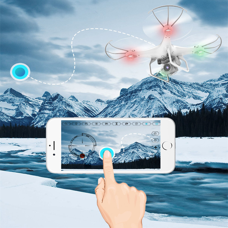 25mins flying time WIFI FPV remote control rc drone AG-07 with hd camera headless mode phone control with 1 or 2 battery kid gif image