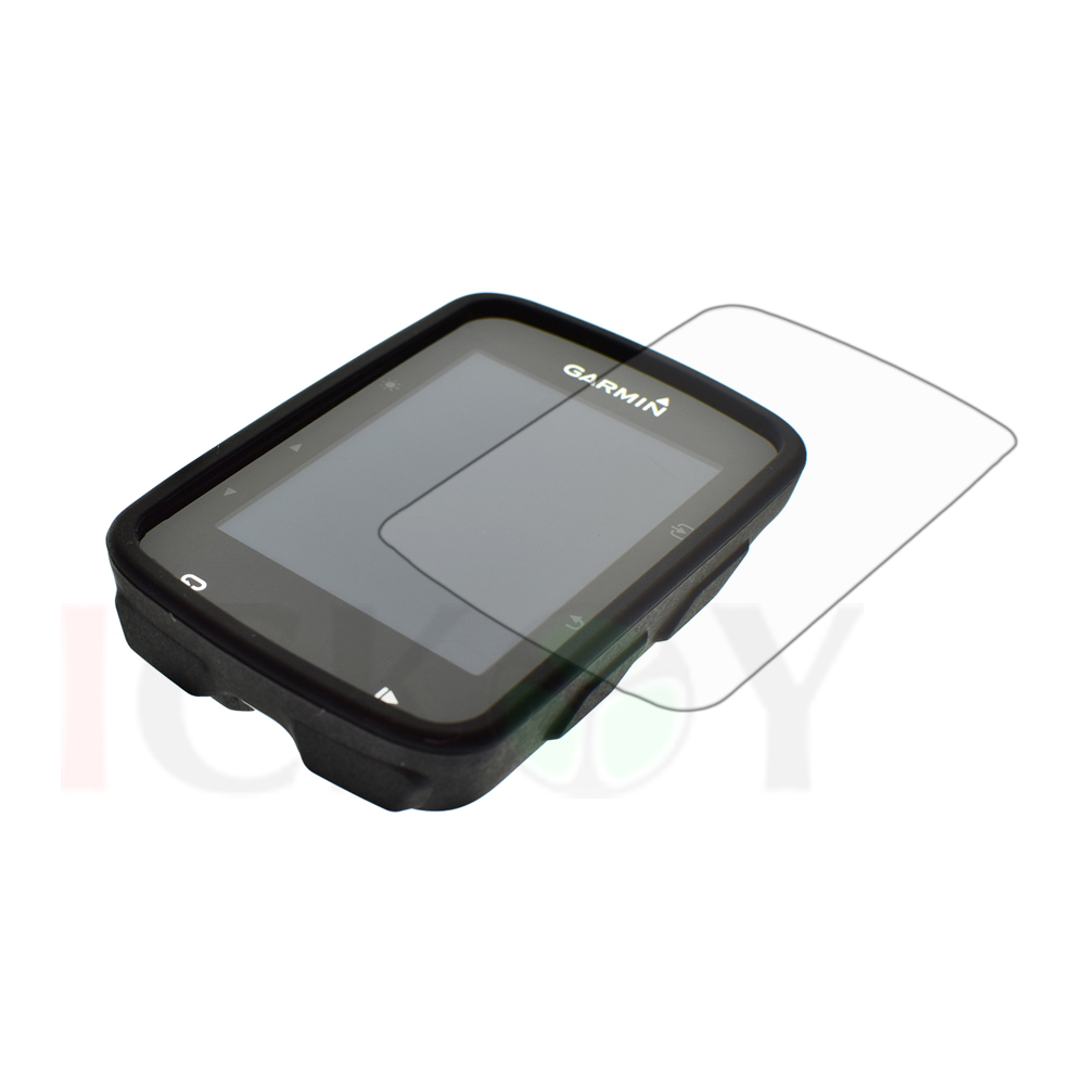 Outdoor Bike Bicycle Cycling Silicone Rubber Black Skin Case + LCD Screen Cover Protector For Garmin GPS Edge 520