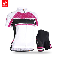 Nuckily D'été de Femmes sport wear Cyclisme plaine noir gel paded shorts avec jersey GA006GB006