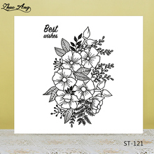 ZhuoAng Blooming flowers Transparent Clear Silicone Stamp/Seal for DIY scrapbooking/photo album Decorative clear stamp
