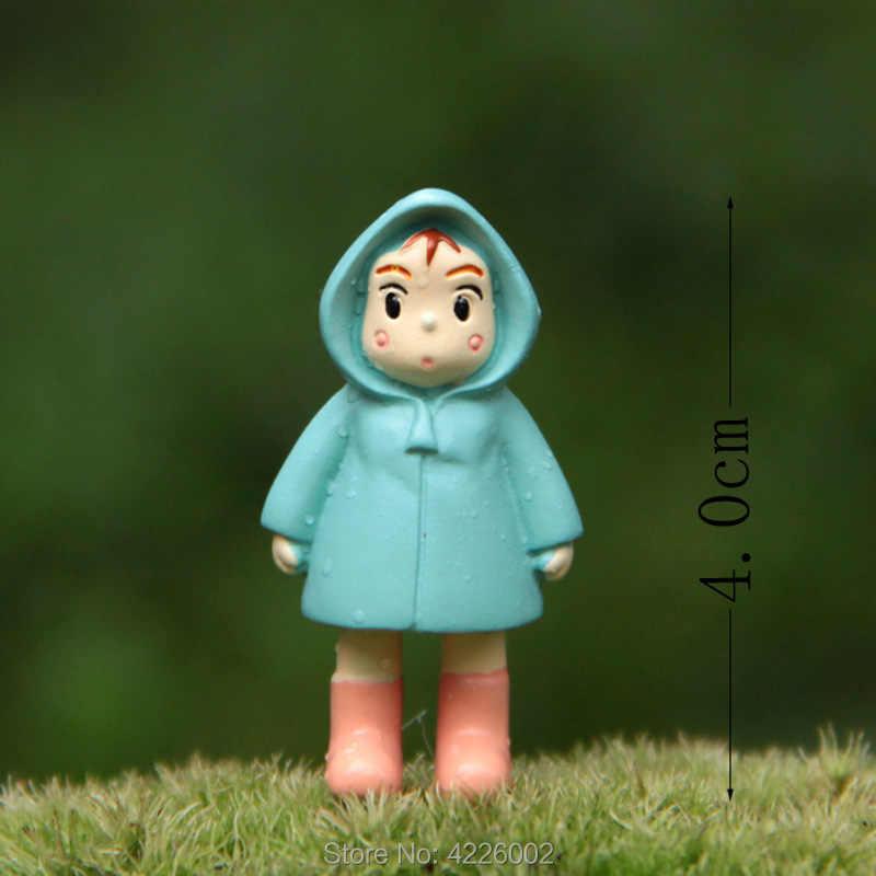Estúdio ghibli meu vizinho totoro guarda-chuva conjunto modelo pvc figuras de ação mei bonecas gnome terrário estatuetas mini decoração do jardim