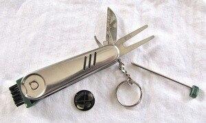 Image 1 - Multi function knife golf multi Tool Divot Repair,Marker,Brush,pen,ball marker,All in One Key Ring Golf Tool Pocket Knife