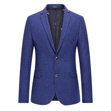 4XL-L Quality Men Blazer Spring 2018 New Slim Fit Plaid Suit Jackets Business Casual Formal Wear Blazers Coat Man Plus Size