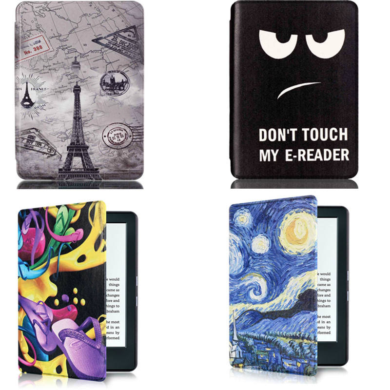 CY  Art Case Slim Shell Book Cover For Amazon All-New Kindle E-reader 6 Display 2016 Release 8th Generation Cute Printed Cases walnew leather case for amazon kindle paperwhite 6 inch e book cover fits all versions 2012 2013 2014 and 2015 all new 300 ppi