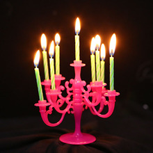 1 set happy birthday candle with candlestick creative art shaped wedding christmas cake dec