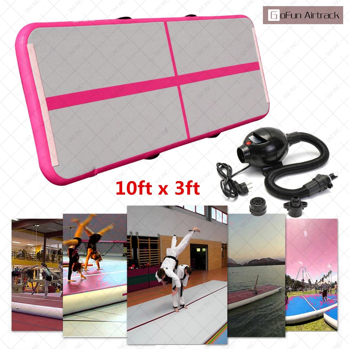 Gofun 118x35x4inch Air Tracks Floor Home Gymnastics Tumbling Mat Inflatable Air Tumbling Track GYM все цены