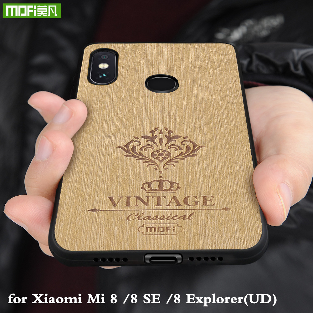 MOFi Back Case for Xiaomi Mi 8 SE Hard PC Cover for Xiomi8 Explorer UD PU Leather Conque for Mi8 Housing TPU Silicone OriginalMOFi Back Case for Xiaomi Mi 8 SE Hard PC Cover for Xiomi8 Explorer UD PU Leather Conque for Mi8 Housing TPU Silicone Original