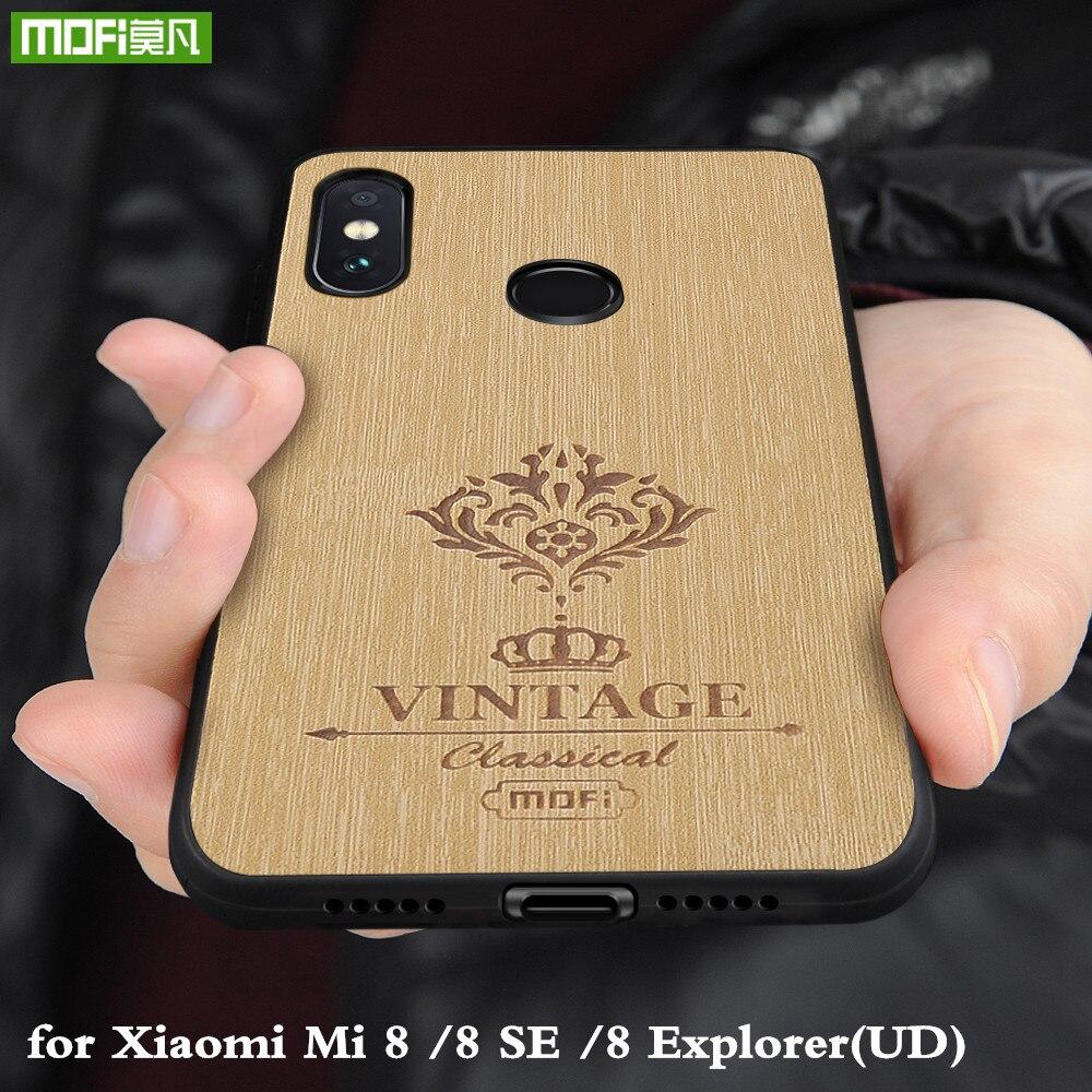 MOFi Cas pour Xiaomi Mi 8 SE Dur PC Couverture pour Xiomi8 Explorer UD PU En Cuir Conque pour Mi8 logement TPU Silicone D'origine