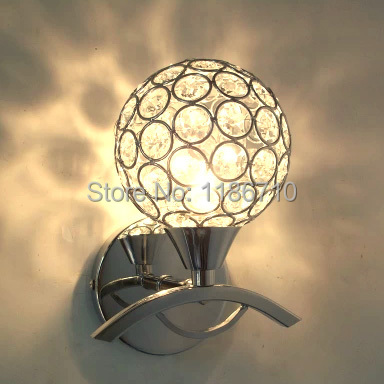 Circular crystal wall lamp wall lamp staircase wall lamp of bedroom the head of a bed Contains LED bulb free shipping creative lamp the dog contemporary and contracted study lamp bedroom the head of a bed folding the mywood art lighting