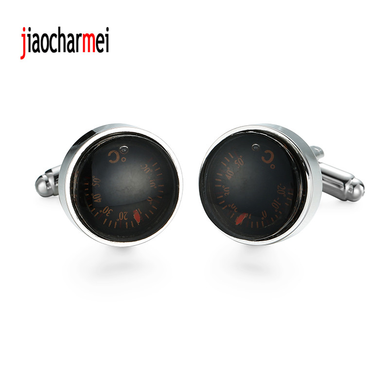 High quality mens shirts Cufflinks brand new fashion boutique car thermometer cufflinks, classic French shirt accessories