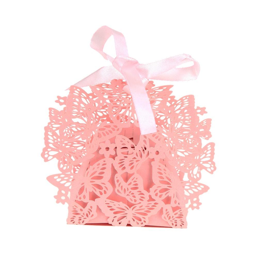 50Pcs/set Wedding Candy Box Casamento Wedding Favors with Ribbon ...