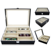 8 Pairs Sunglasses Organizer Box Eyewear Glasses Display Case Collector Eyeglass Box Jewelery Sunglasses Storage Case Holder