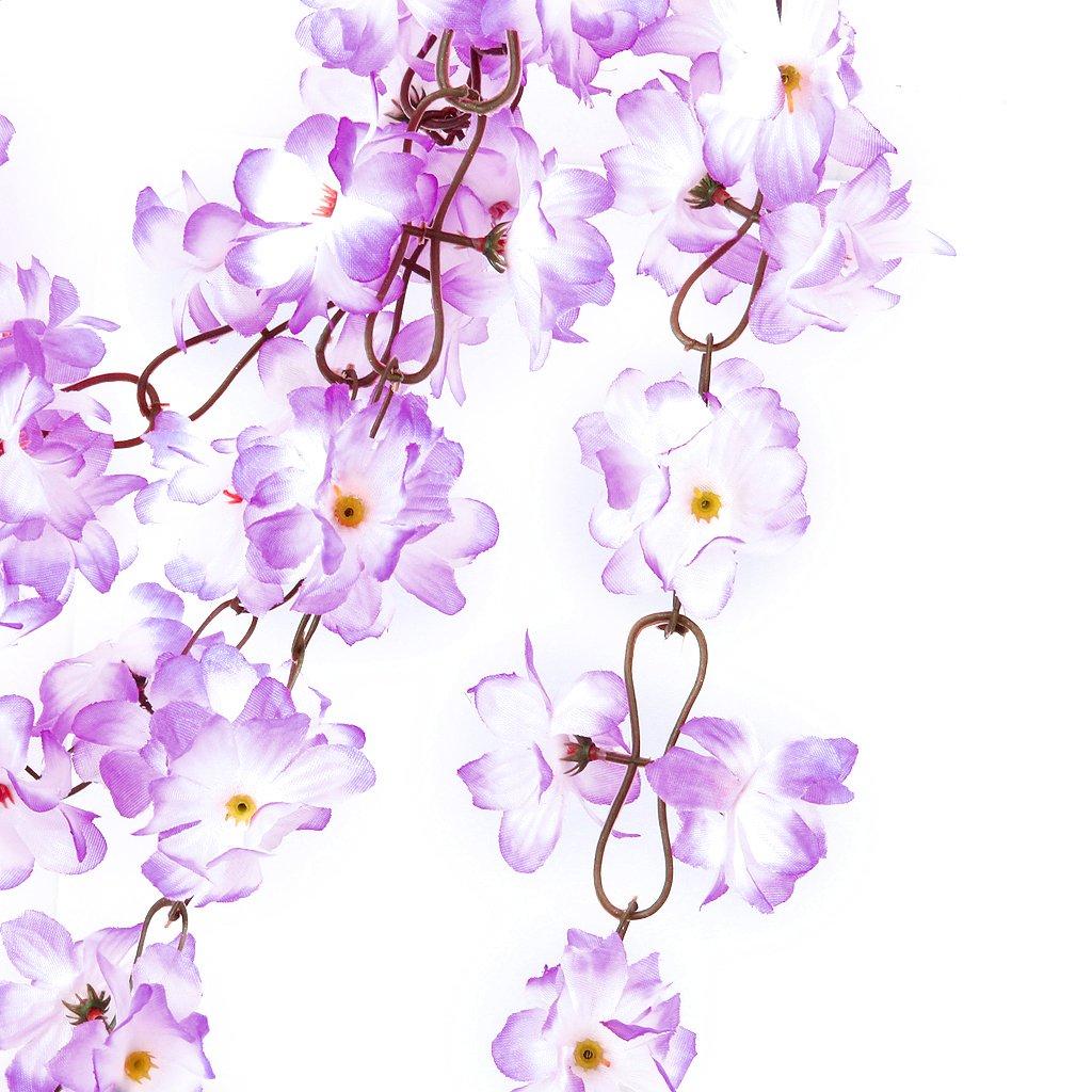 2x Artificial Azalea Garland Silk Flower Vine Wedding Party Garden Decor