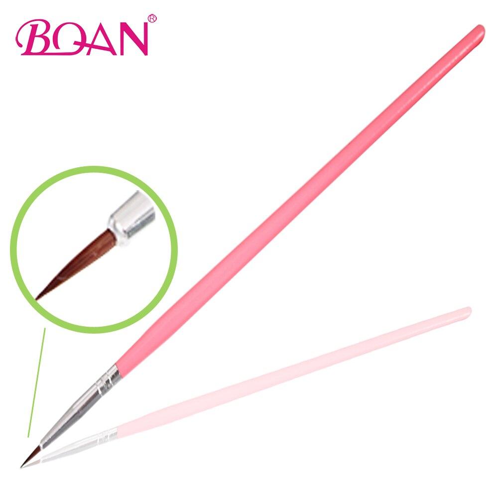 Wholesale 100 Pcs 00# Wood Nail Paintings Brush Nail with Nylon Nail Drawing Pen Free Shipping