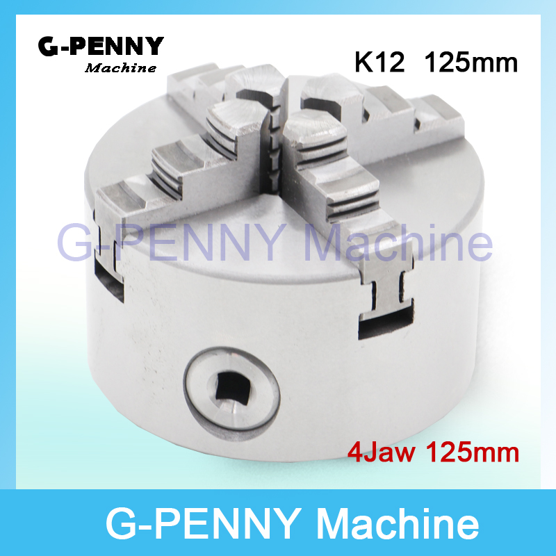 CNC 4th axis / A axis 125mm 4 jaw Chuck self-centering manual chuck four jaw for CNC Engraving Milling machine CNC Lathe Machine drill chuck k72 125 four jaw independent chuck cnc chuck