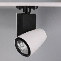 LED Track Light 30W 35W CREE COB LEDCeiling Rail Lights For Clothes Shop BLACK SHELL Or