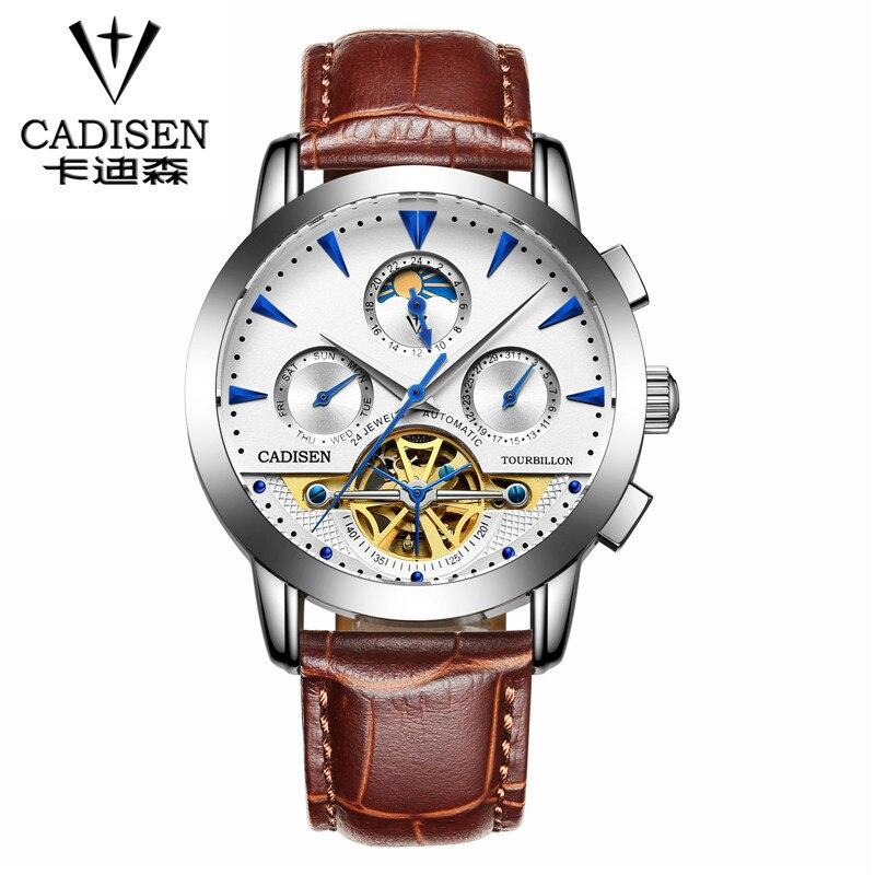 brand watch hollow mechanical watch fashion Casual waterproof dress watch leather strap men sports watches