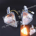 Smoke Rear Turn Light Signal Blinker For Suzuki GSXR1000 2007 2008 GSXR 600 750 08 - 10 2009 2010 K7 K8 With Bulb Light Clear