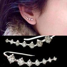 R.a jual panas trendi empat - cabang pengaturan tujuh Piece kubik zirkon Ear Hook mode anting wanita murah(China)