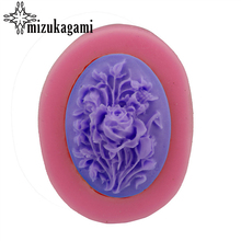 1pcs UV Resin Jewelry Liquid Silicone Molds 3D Oval Peony Flowers Resin Charms Molds For DIY