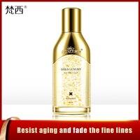 Fonce 24k gold essence face serum nicotinamide liquid brightens skin wrinkle firming anti aging facial essence 80ml