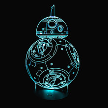2017 New 3D Led Night Light Lamp Novelty Robot USB Touch Switch Table Lamp Creative Lampara Luminaria Home Decor