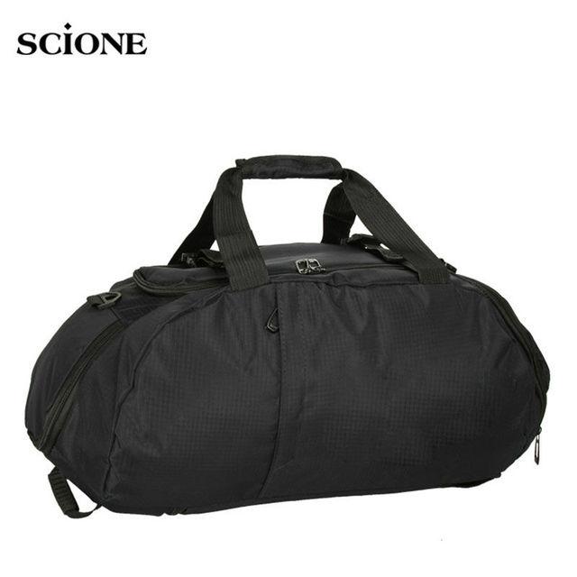 3671ca41a9055 Portátil deportes bolsas de gimnasio Fitness mochila hombro bolso para  zapatos de viaje mochilas para hombres