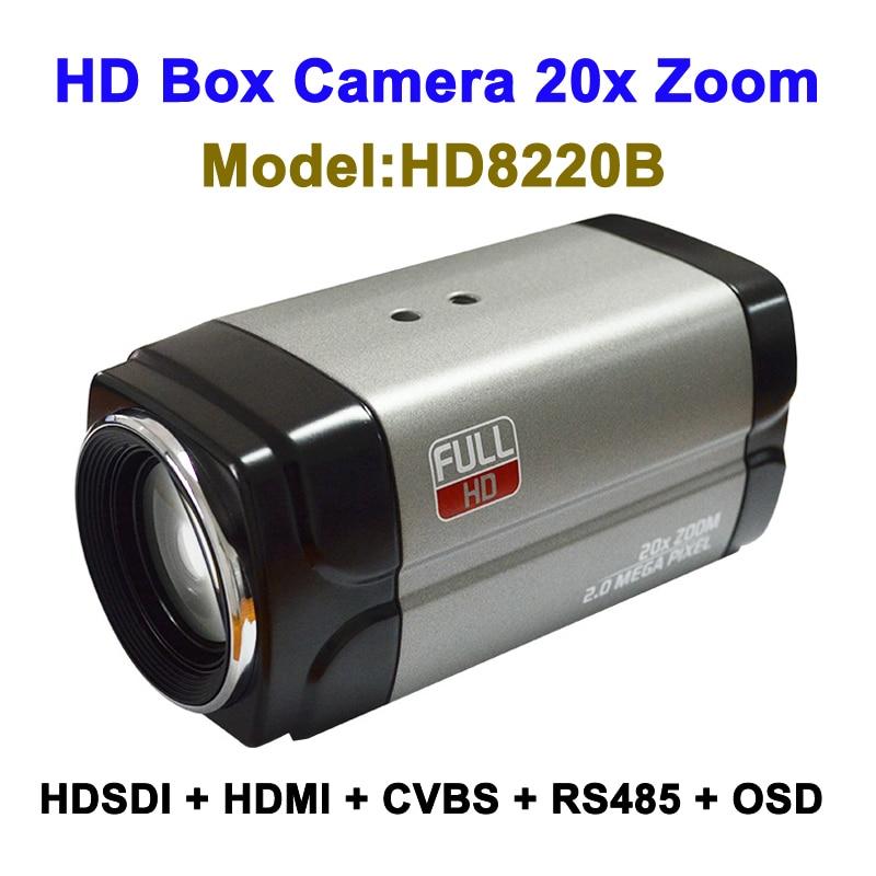 2MP 3G SDI HD Box камера 1080P60fps 20x оптический зум с одновременным HDMI CVBS выходом