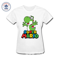 2017 Swag Süper Mario Bros Yoshi Genç Gençlik Komik Pamuk komik t shirt kadın