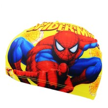 Boys Baby spiderman Cap Quick Dry Lovely Children Cartoon Swimming Cap Kid Beach Hat Elasticity Kids Swim Hat Caps Bathing Hats(China)