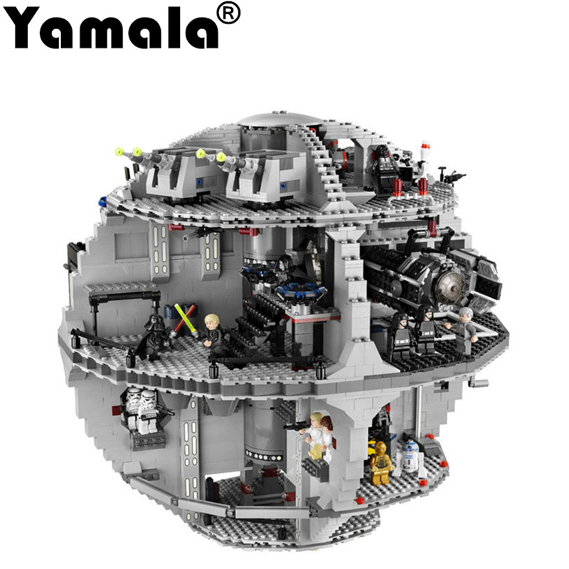 [Yamala]LEPIN 05035 Star Wars Death Star Model Building Block Set Bricks Kits Brick Toy For Children Compatible Starwars 10118 lepin 05035 star wars death star limited edition model building kit millenniums blocks puzzle compatible legoed 75159