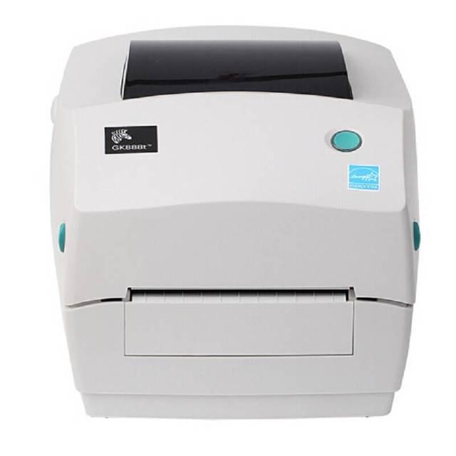זברה מדפסת Gk888t/cn תרמית מדפסת דבק אקספרס אלקטרוני פנים ברקוד הדפסה