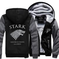 Men's Sweatshirt Game of Thrones House Stark hoodies men Winter Is Coming 2017 spring winter fleece jacket tracksuits harajuku