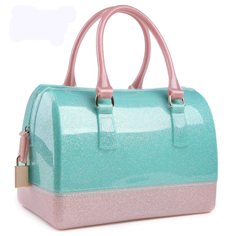 Spring Summer Luxury Patchwork Women Silicon Candy Transparent Pillow Crossbody Messenger Bags Handbags Bolsa Feminina 40 In Top Handle From Luggage