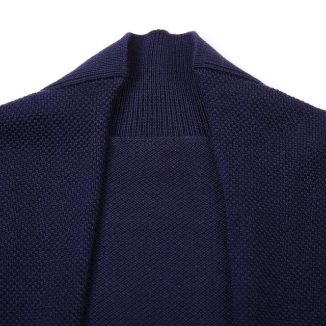 2016 Latest Design Autumn Mens No Button Sweater Fashion Plain Knit Buttonless Cardigan