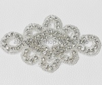 88cm/lot 10pcs/lot Chinese knot shape clear crystal rhinestone applique trims for dress shoes bags headdress fashion decoration