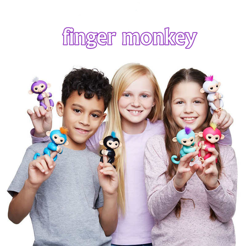 Cute Smart Finger Baby Toy Monkey Hand And Feet interactive Finger Monkey Electronic Pets kawaii Toys For Children funny falling tumbling monkey parenting family interactive toy