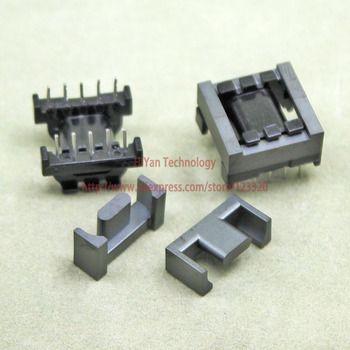 20sets/lot EPC17 8 6 PC95 Ferrite Magnetic Core and 5 Pins + 5 Pins Top Entry Plastic Bobbin Customi