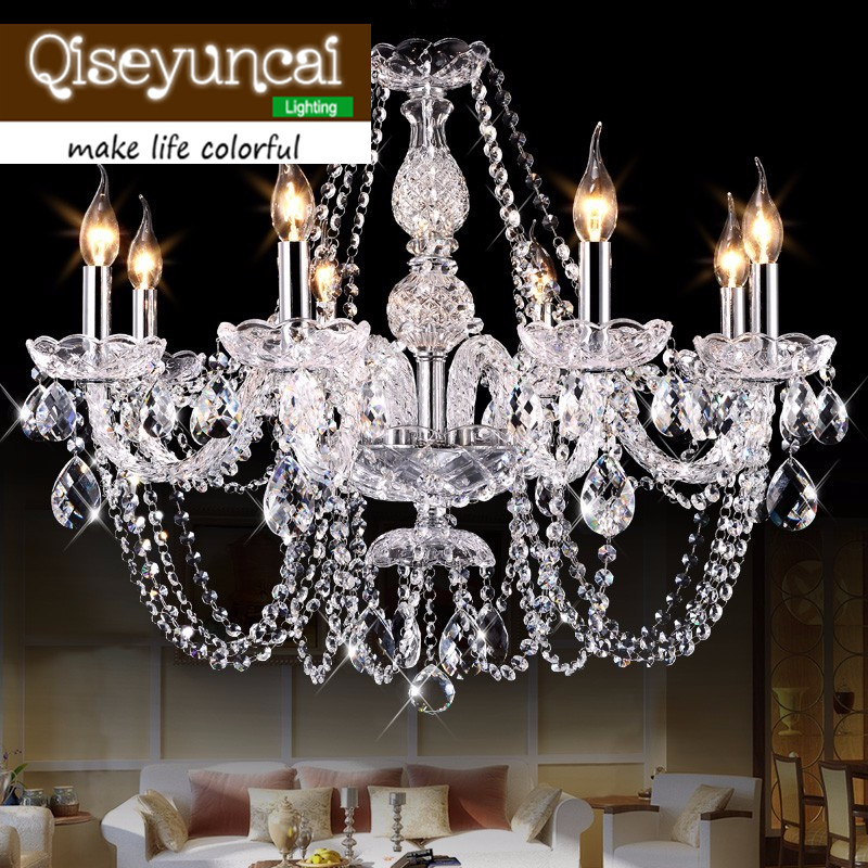 Modern led chandelier for kitchen Bedroom Glass K9 Crystal ceiling chandelier lustres de cristal Home decoration lamp pendientes noosion modern led ceiling lamp for bedroom room black and white color with crystal plafon techo iluminacion lustre de plafond