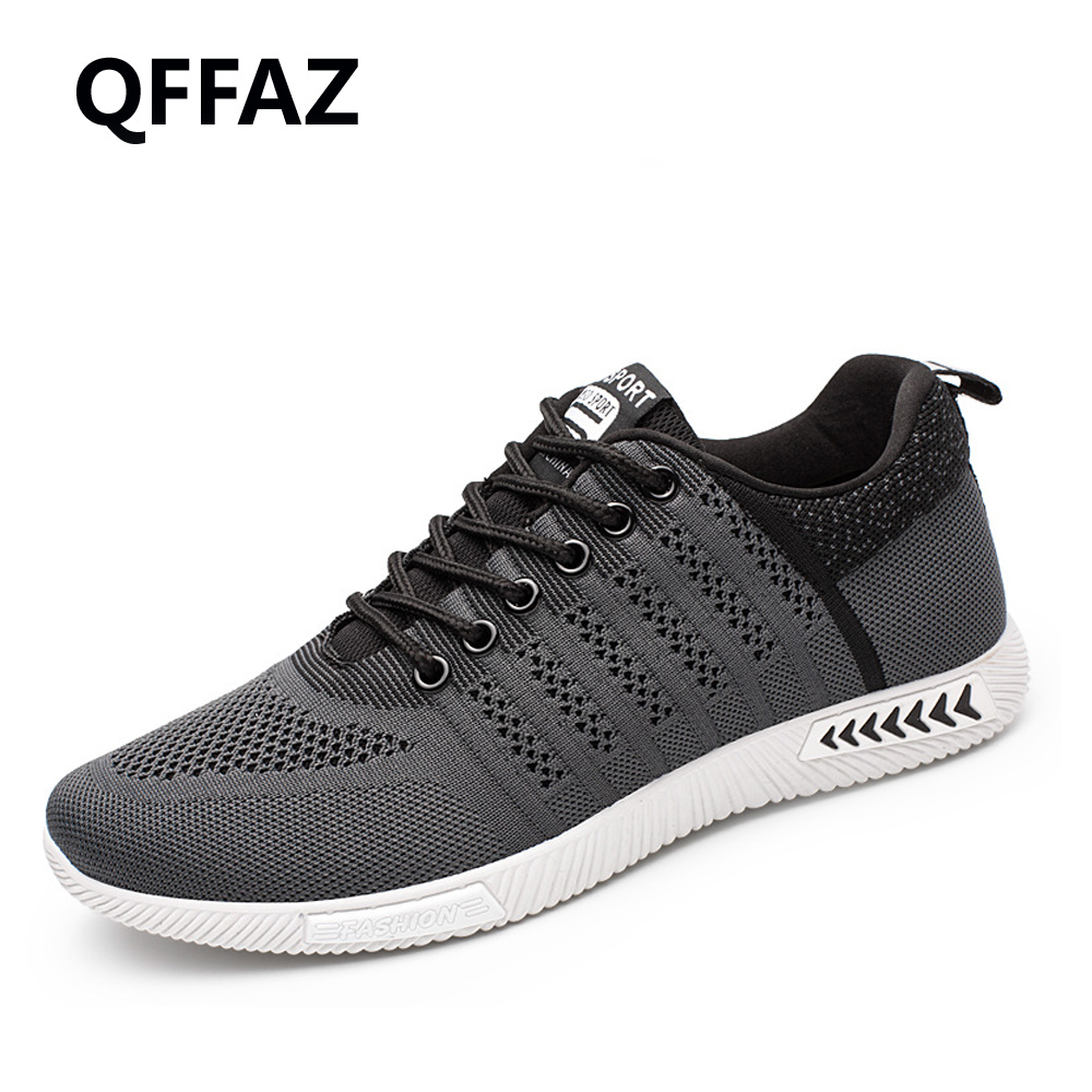 QFFAZ New Summer High Quality Men Casual Shoes Light Flats Shoes Fashion Breathable Mens Casual Shoes